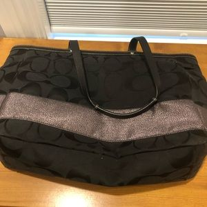 Black Coach Diaper Bag